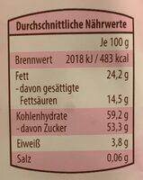 Fruit et chocolat himbeere-aronia - Valori nutrizionali - fr