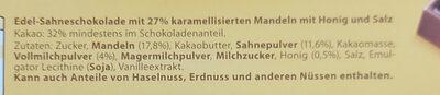 Honig Salz Mandel Schokolade - Ingrédients - de