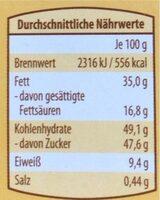 Honig Salz Mandel Schokolade - Informations nutritionnelles - de
