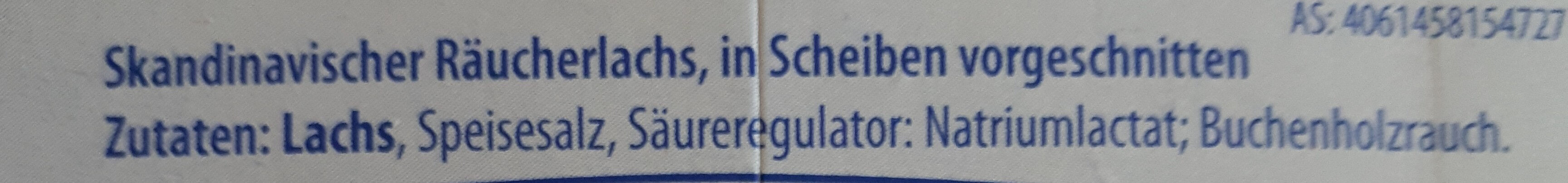 Skandinavischer Räucherlachs - Ingrédients - de