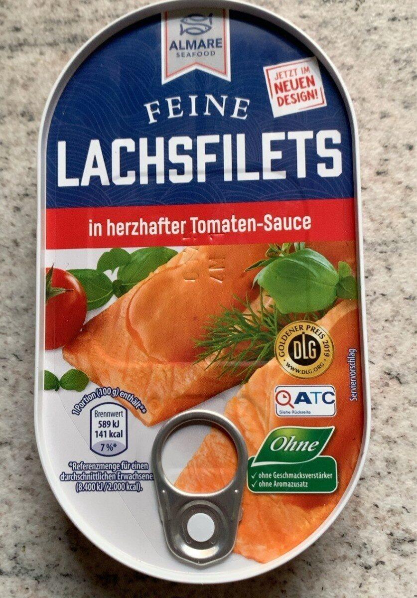 Lachsfilet in herzhafter Tomatensauce - Produit - de