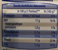 Lachsfilet in Dose - Informations nutritionnelles - de