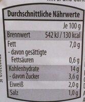 Kartoffelsalat mit Ei und Gurke - Nährwertangaben - de