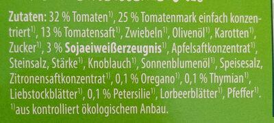 Vegane Tomatensauce Bolognese - Ingrédients - de