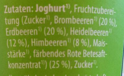 Fruchtjoghurt (Waldbeere) - Zutaten - de