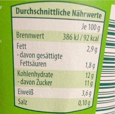 Fruchtjoghurt (Waldbeere) - Nährwertangaben - de
