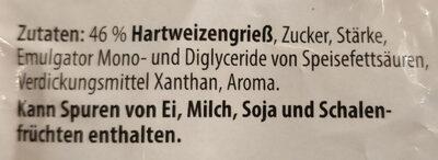 Grießbrei - Ingredienti - de