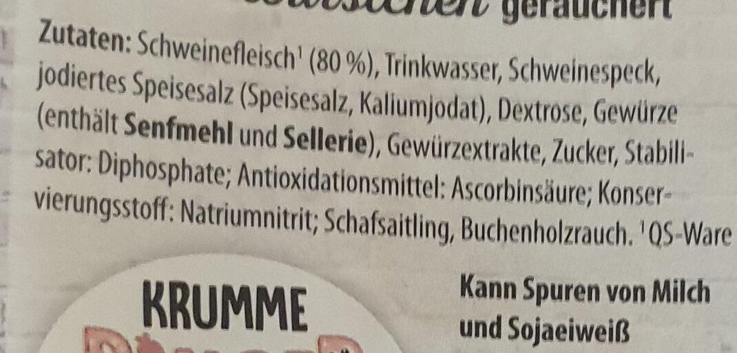 Wiener Würstchen geräuchert - Ingrédients - de
