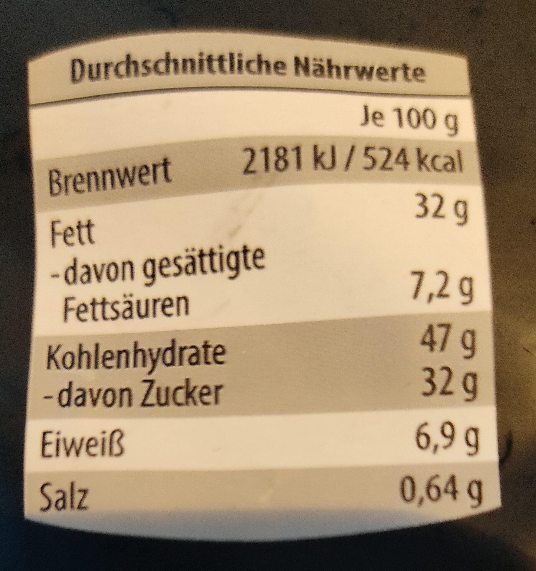 In Ahornsirup karamellisierte Pekannusskerne - Valori nutrizionali - de