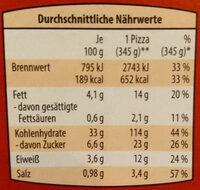 Veggi Base Pizza Tomate - Informations nutritionnelles - de