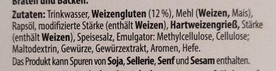 The Wonder vegane Fischstäbchen - Ingrédients