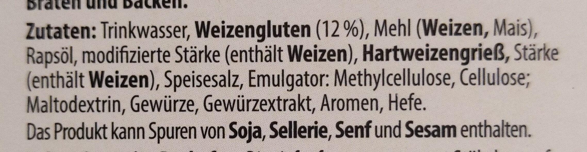 The Wonder vegane Fischstäbchen - Ingrédients - de