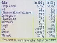 Erdbeere mit Himbeere in Apfel  ( Nach dem 4. Monat ) - Nutrition facts