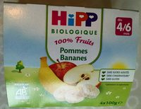 100% Fruits Pommes Bananes - Product