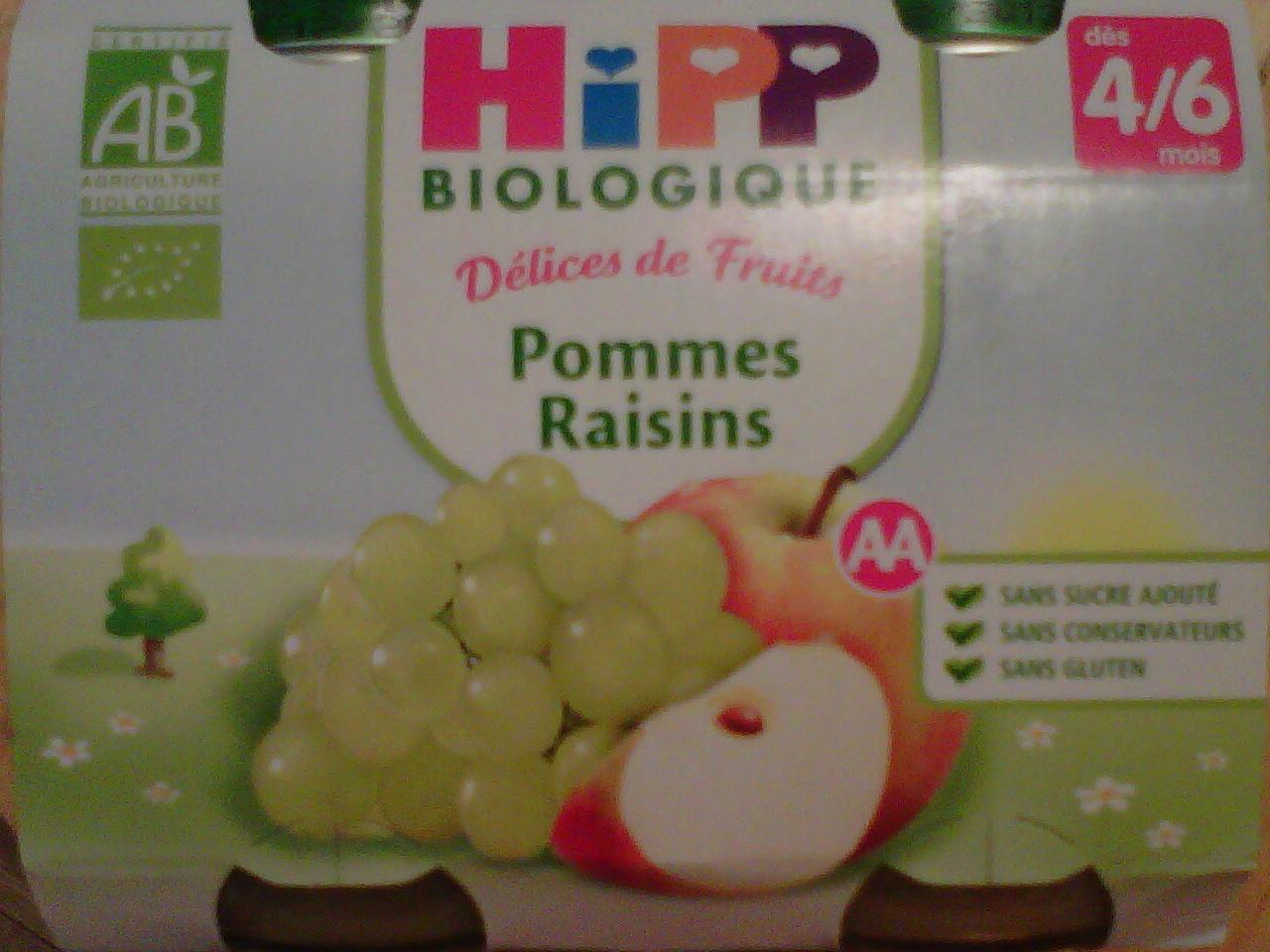 Délices de Fruits Pommes Raisins - Product - fr