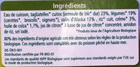 Tagliatelles Légumes Colin d'Alaska - Ingrédients