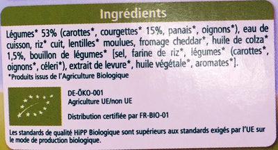 Gratin de Courgettes Petits Légumes - Ingredients