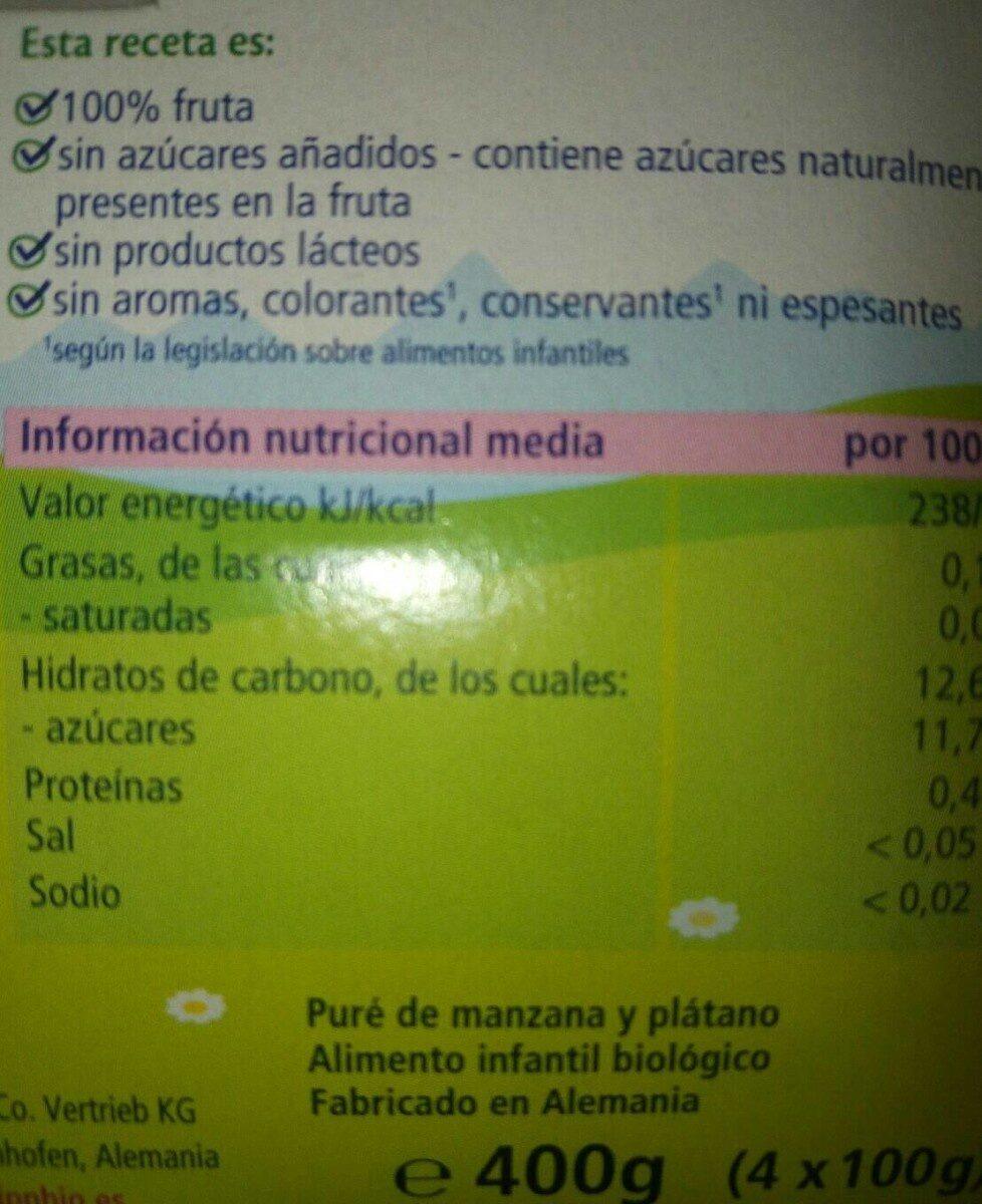Mis Primeras Frutas - Nutrition facts
