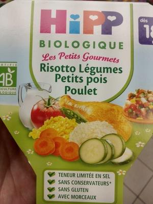 Risotto légumes, petits pois, poulet bio - Produit - fr