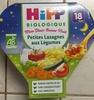Mon Dîner Bonne Nuit Petites Lasagnes aux Légumes - Produit