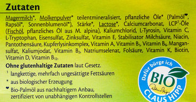 1 Bio Anfangsmilch - Ingredients