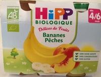Délices de Fruits Bananes Pêches - Produit - fr