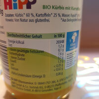 Kürbis mit Kaftoffeln - Informations nutritionnelles - de