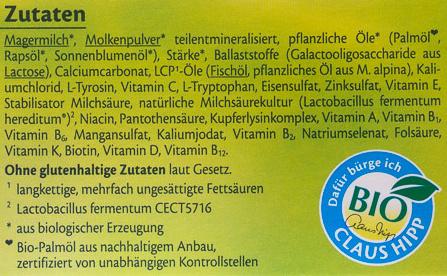 HiPP Combiotik 1 - Ingredients
