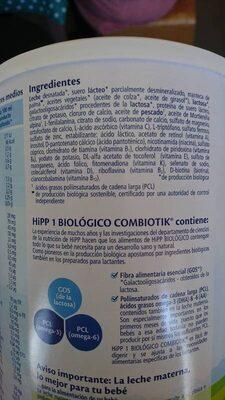 Hipp Combiotik 1 Leche Lactante - Ingrediënten