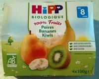 100% Fruits Poires Bananes Kiwis - Product