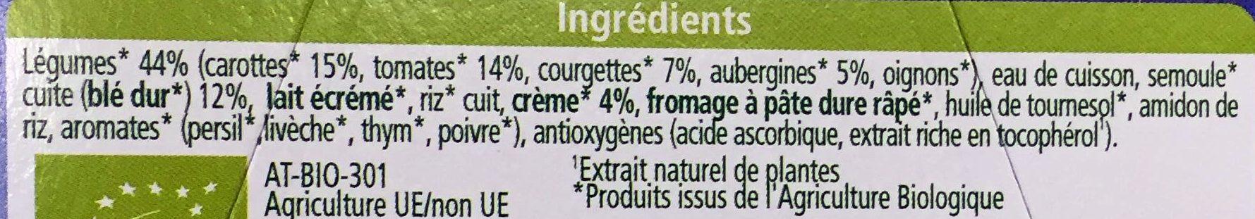 Semoule aux légumes du Soleil - Ingredients