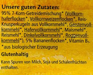 Kinder 7-Korn-Müesli - Ingredients