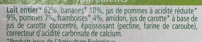Délices de Lait Brassé Pommes Bananes Framboises - Ingredientes