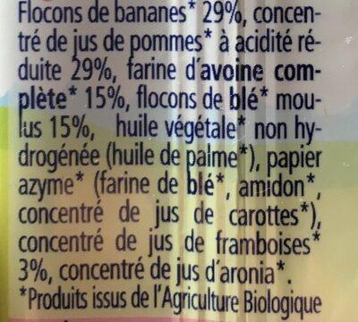 Barre Céréales Pommes Fruits Rouges - Ingredients