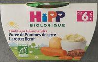 Bol Purée De Pommes De Terre Carottes B?uf Hipp 190 g + - Produkt - fr