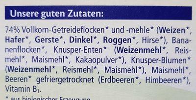 Müsli Enten - Ingredients - de