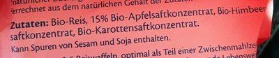 Hipp Himbeer Reiswaffeln - Inhaltsstoffe