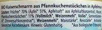 Kleine Mehlspeise Kaiserschmarrn in Apfelmuss - Zutaten