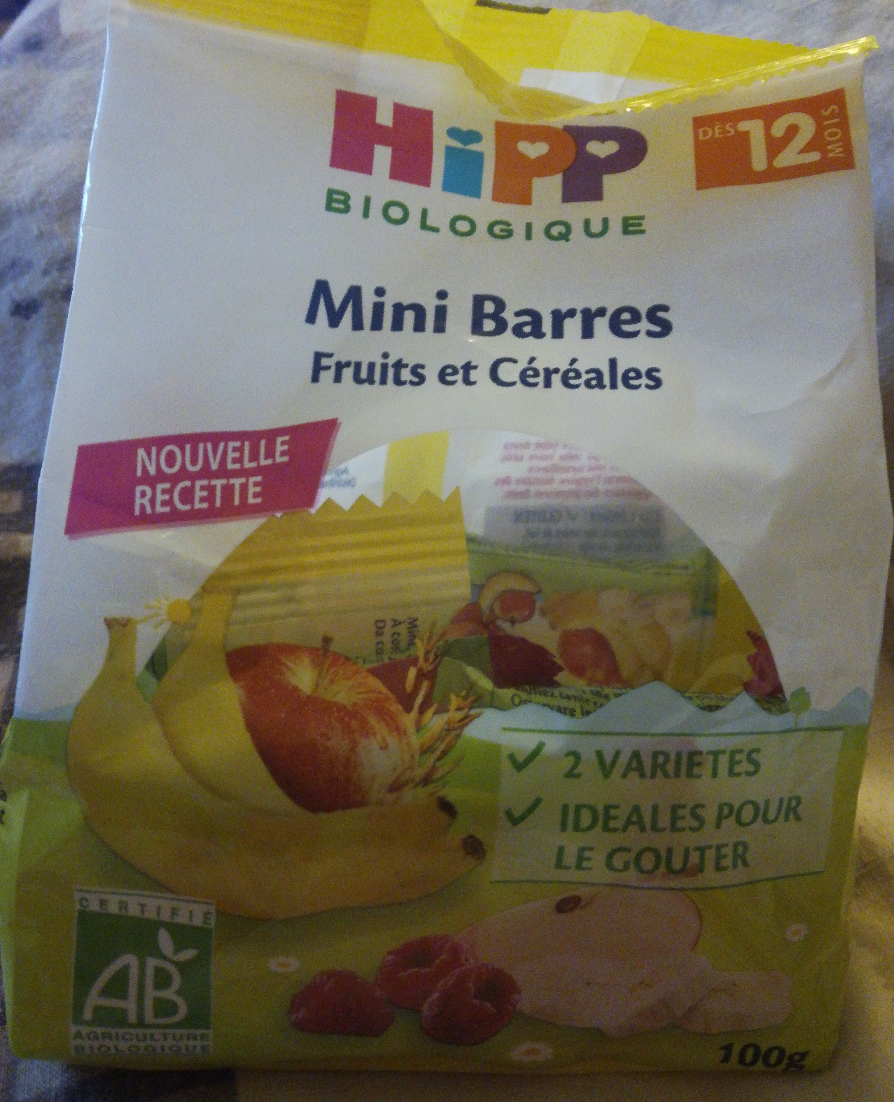 Mini Barres Fruits Et Céréales 2 Variétés Hipp 100G + - Product
