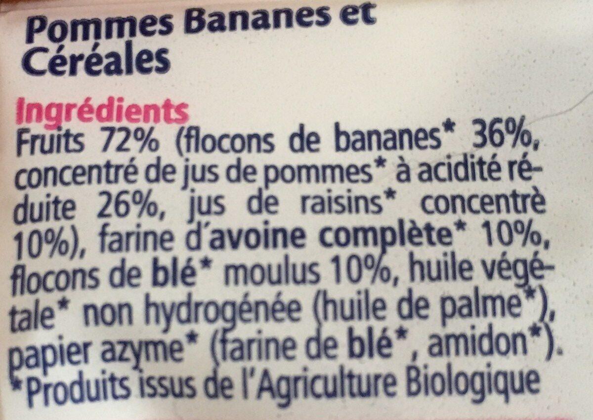 Mini Barres Fruits Et Céréales 2 Variétés Hipp 100G + - Ingredients