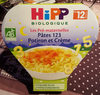 Assiette Pâtes 123 Potiron Et Crème Hipp 230G + - Produit