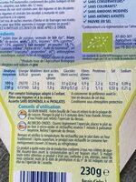 Assiette Pâtes 123 Potiron Et Crème Hipp 230G + - Nutrition facts