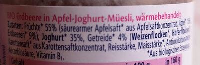 Hipp Jögurt  Müesli - Ingrédients - de