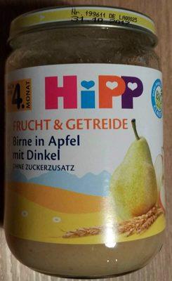 Frucht & Getreide Birne in Apfel mit Dinkel - Produkt