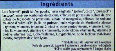 Lait pour nourrissons BIO 1 - Ingredients