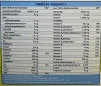Lait de suite Bio 2 - Nutrition facts - fr