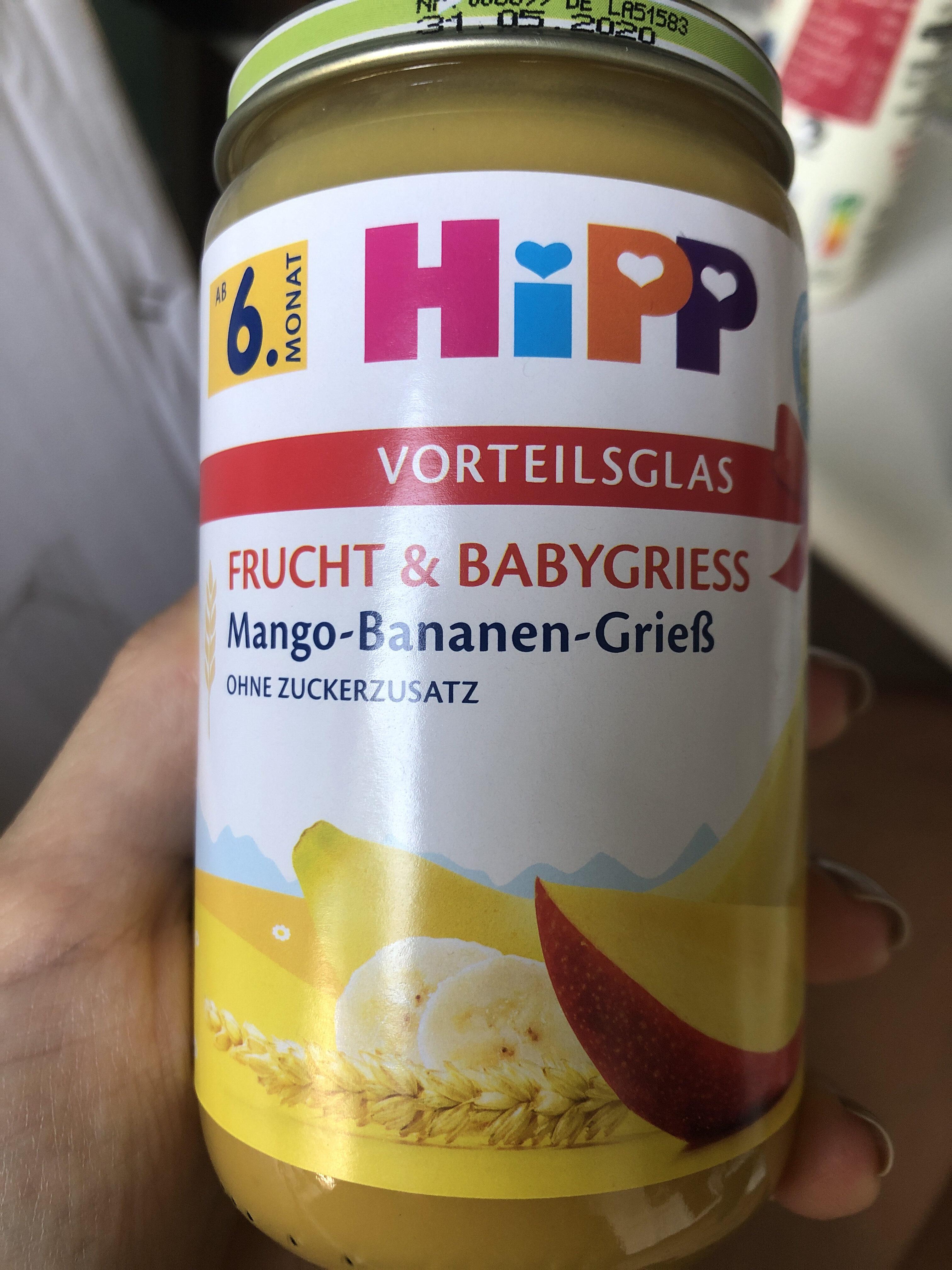 Frucht & Babygries Mango-Bananen-Grieß - Product - de