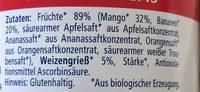 Frucht & Babygries Mango-Bananen-Grieß - Ingrediënten - de