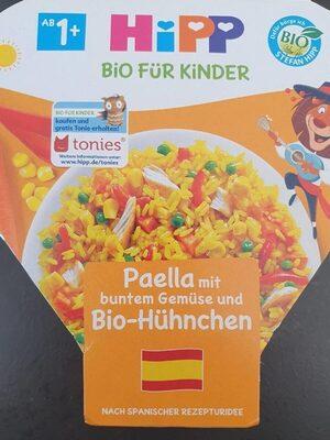 Paella mit buntem Gemüse und Bio-Hühnchen - Product - en