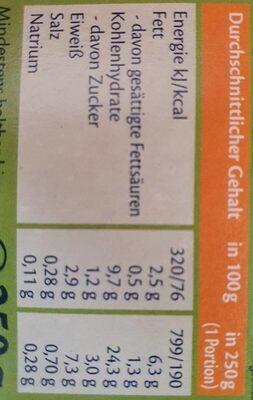 Paella mit buntem Gemüse und Bio-Hühnchen - Nutrition facts - en